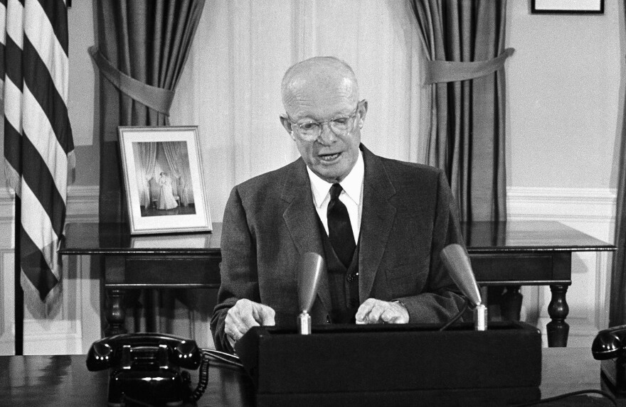 President Dwight Eisenhower reports to the nation on his goodwill journey through Latin America.
