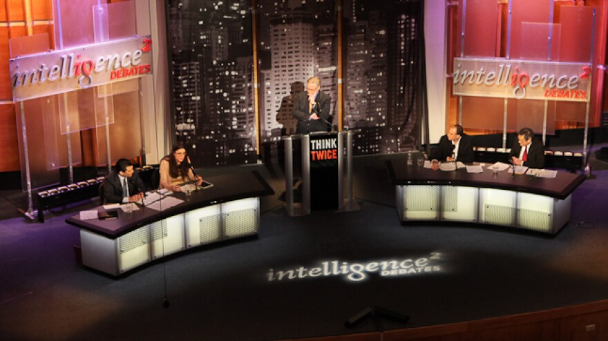 Dr. Scott Gottlieb and Megan McArdle face off against Jonathan Chait and Dr. Douglas Kamerow over the Affordable Care Act in a debate moderated by John Donvan in January.