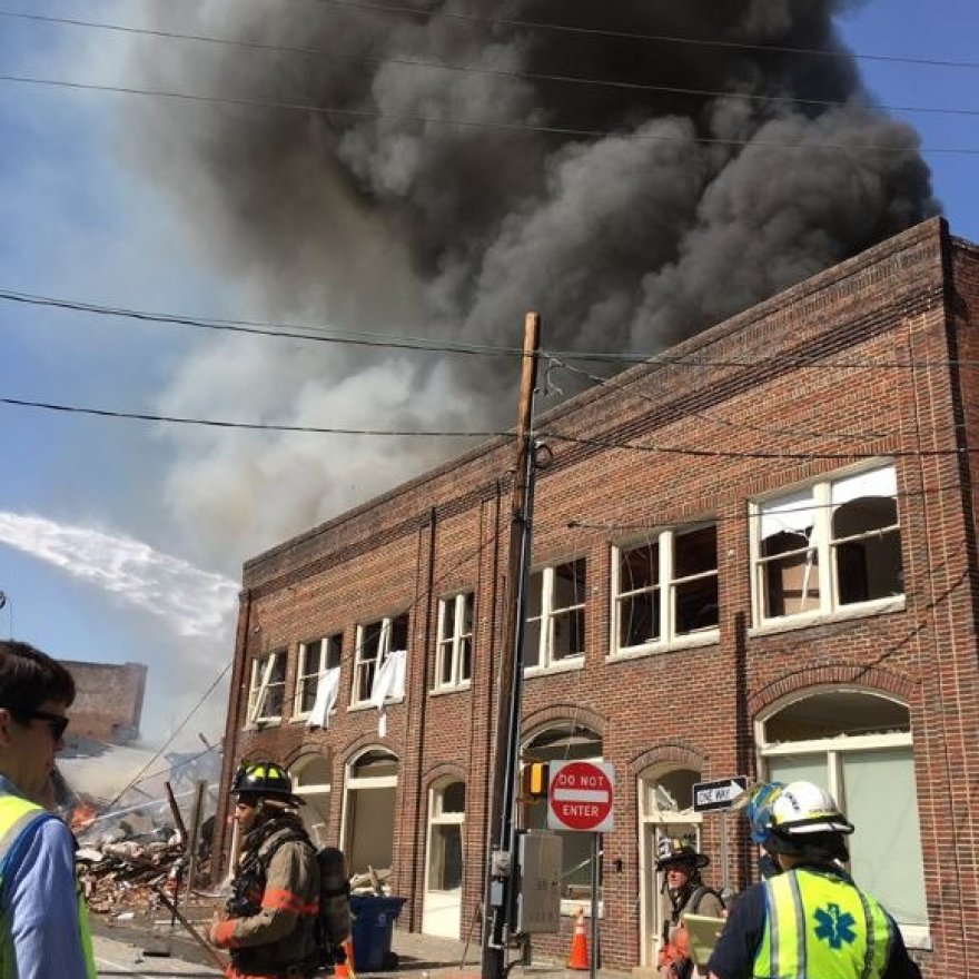 A large explosion has been reported in downtown Durham. City officials say the explosion is believed to have been caused by a gas leak.