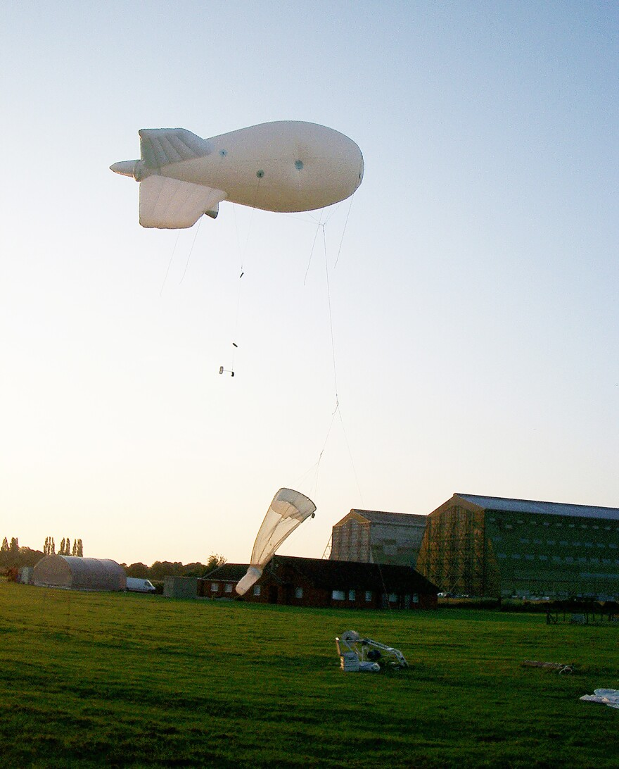 Researchers used a helium-filled balloon equipped with a net and tethered to the ground to sample the tiniest of flying insects. Bigger bugs can be spotted with beams of radar pointed straight up.