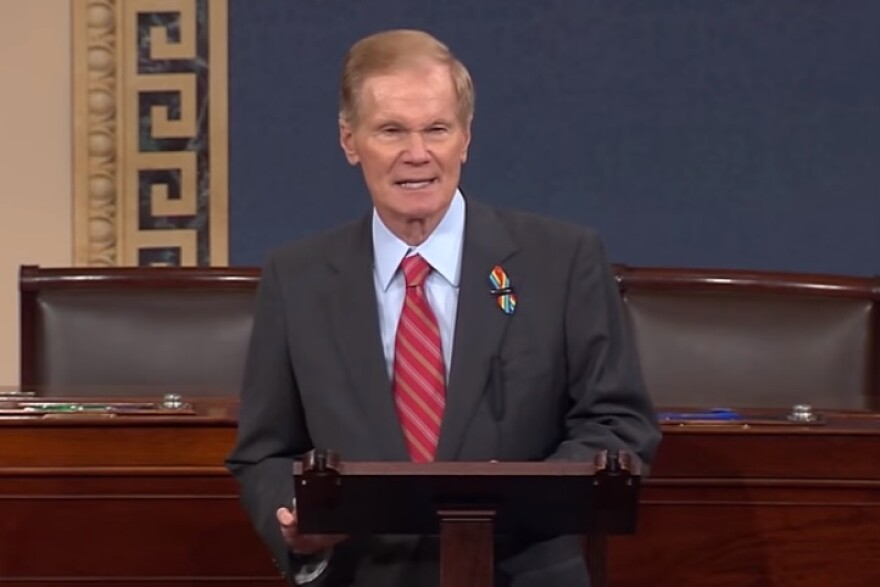 Sen. Bill Nelson (D-FL) speaking on the U.S. Senator Floor Tuesday to honor the victims and survivors at Pulse nightclub shooting.