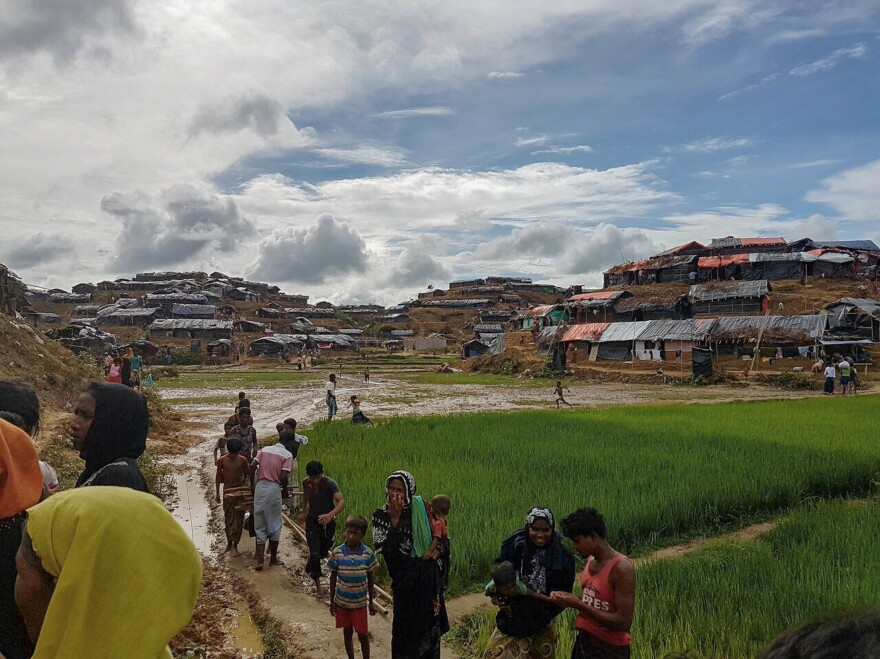 Dozens of camps have sprouted in Bangladesh since the Rohingya have begun arriving.