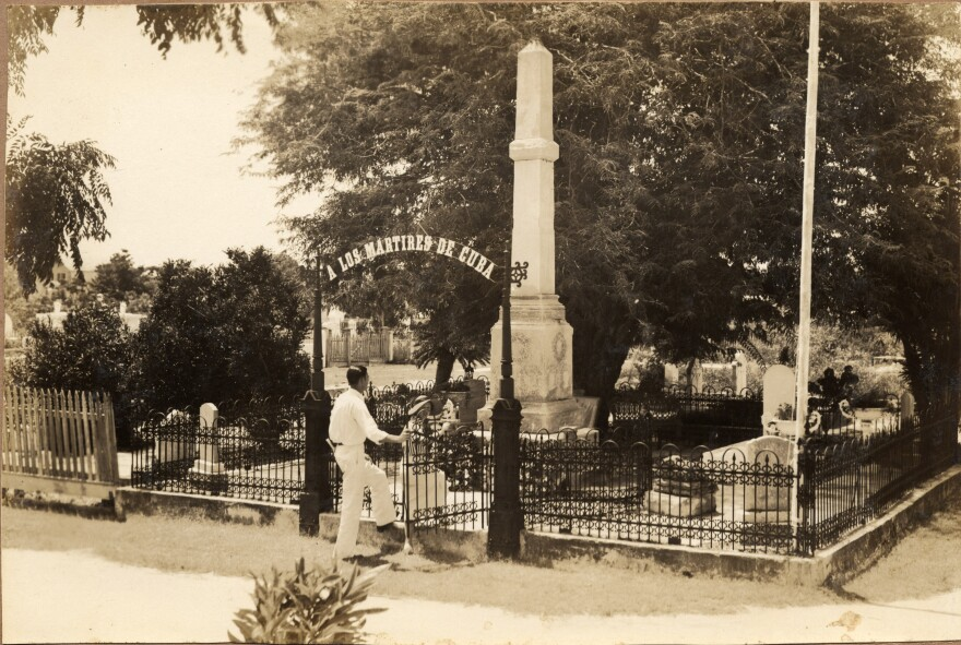 The Cuban Martyrs plot in Key West Cemetery, from the 1930s.