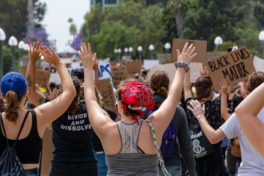 San Diego, California. June 1st, 2020. San Diego City College Students organized a pacific protest for justice on the murder of George Floyd in Minneapolis on May 25, 2020.