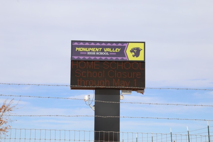 Photo of Monument Valley High School Sign that reads