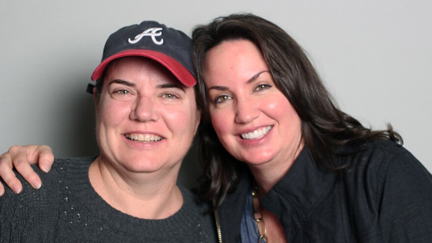Claudia Anton and Diana Keough, on a visit with StoryCorps in Atlanta.