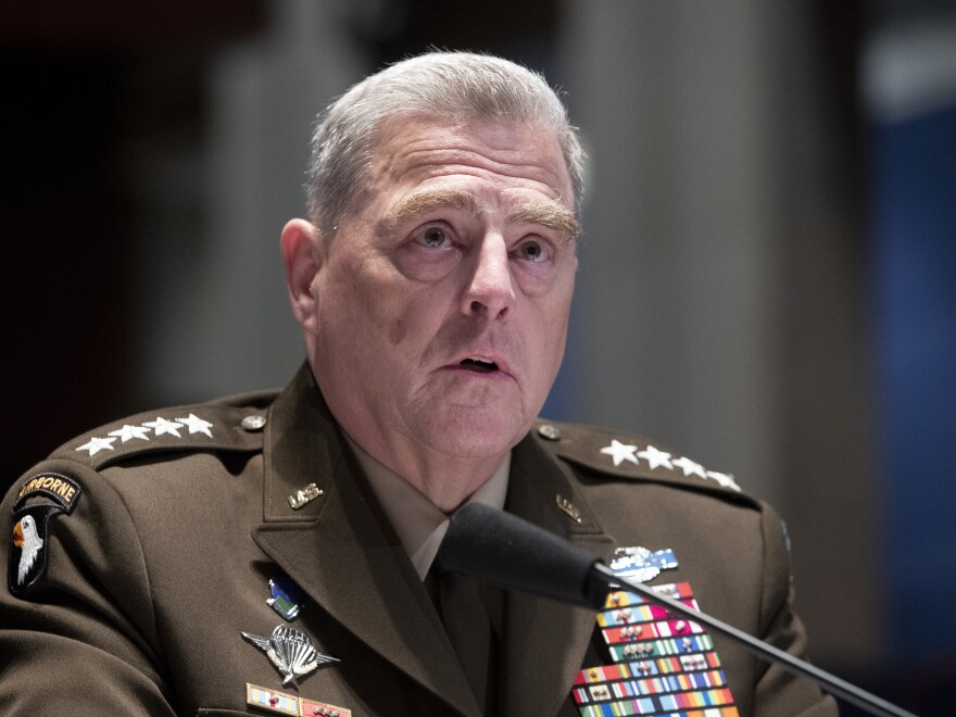 Chairman of the Joint Chiefs of Staff Gen. Mark Milley testifies during a House Armed Services Committee hearing on Capitol Hill in June.