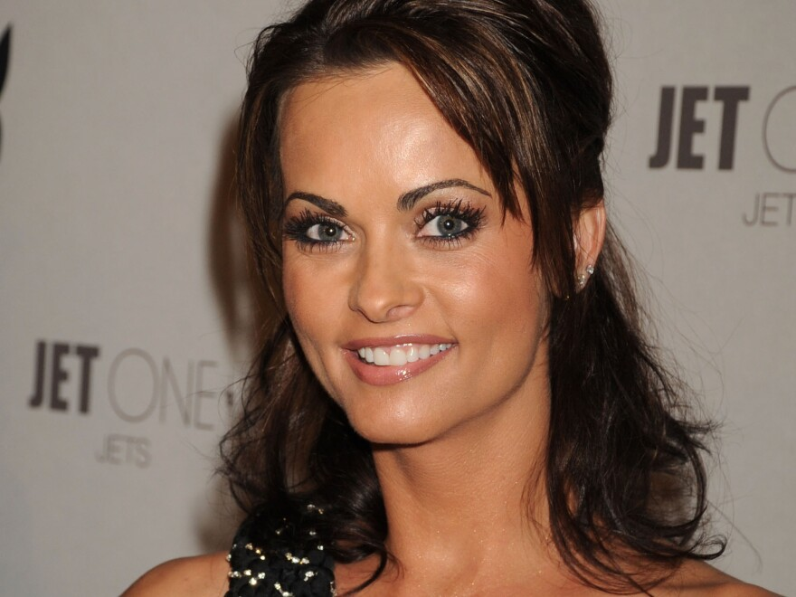 <em>Playboy</em> model Karen McDougal attends <em>Playboy</em>'s Super Saturday Night Party on Feb. 2, 2008 in Phoenix, Ariz.