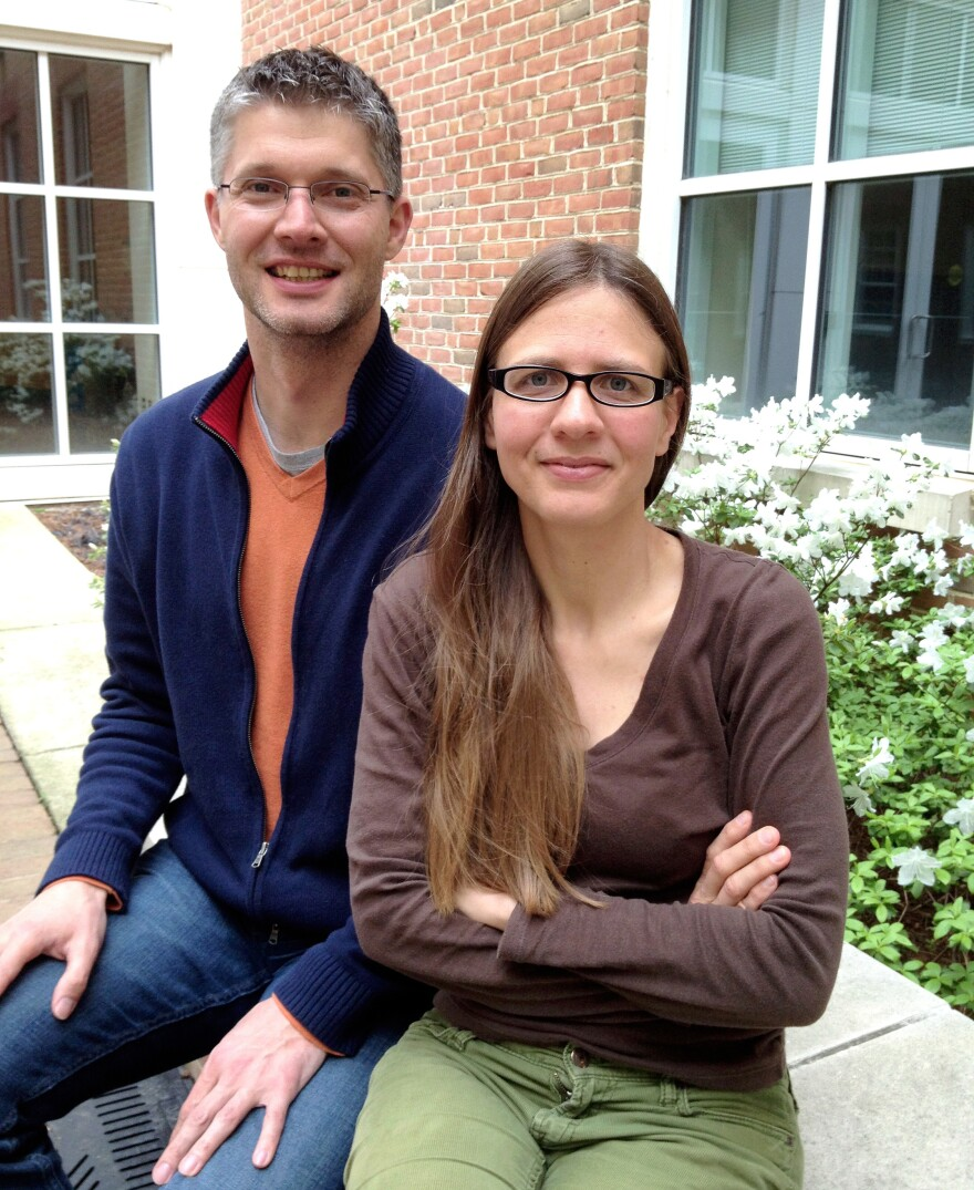 """Martin Buschkuehl and Susanne Jaeggi of the <a href=""""http://wmp.education.uci.edu/"""" target=""""_blank"""">Working Memory and Plasticity Laboratory</a> at the University of California, Irvine.<a href=""""http://wmp.education.uci.edu/"""" target=""""_blank""""></a>"""
