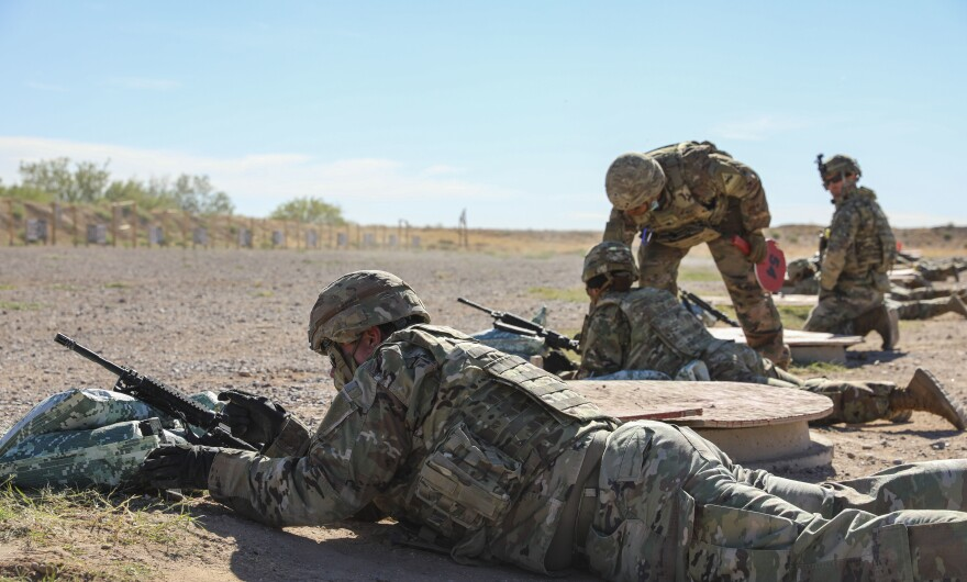 Soldiers with 2nd Armored Brigade Combat Team, 1st Armored Division qualify on their individually assigned weapons at the Dona Ana Range Complex, Fort Bliss, New Mexico, May 27, 2020.