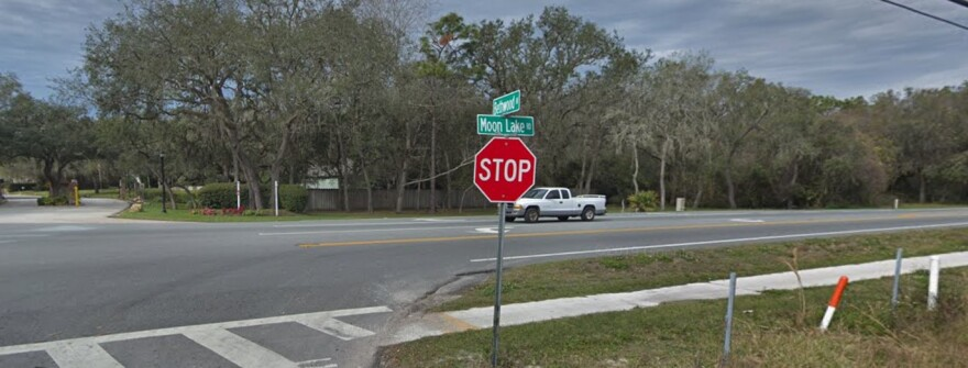 Intersection of Moon Lake Rd. and Bethwood Ave. in New Port Richie