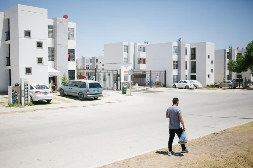 Olivas-Bejarano walks home in León.