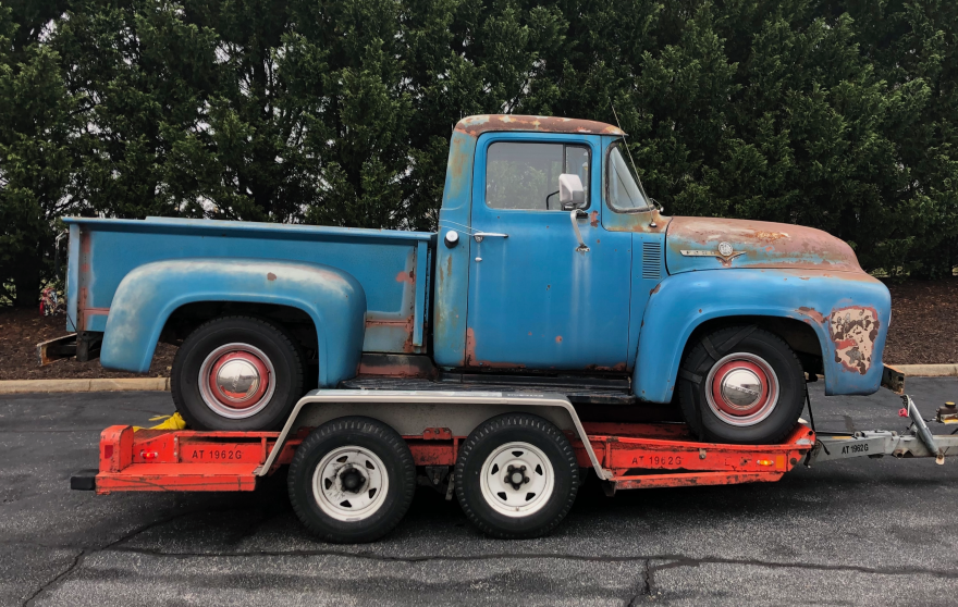 "Jarrett Pumphrey is now the proud owner of his <em>own </em>old truck — a 1956 Ford F100. You can <a href=""https://thepumphreybrothers.com/the-old-truck-irl"">follow his progress restoring it here.</a>"