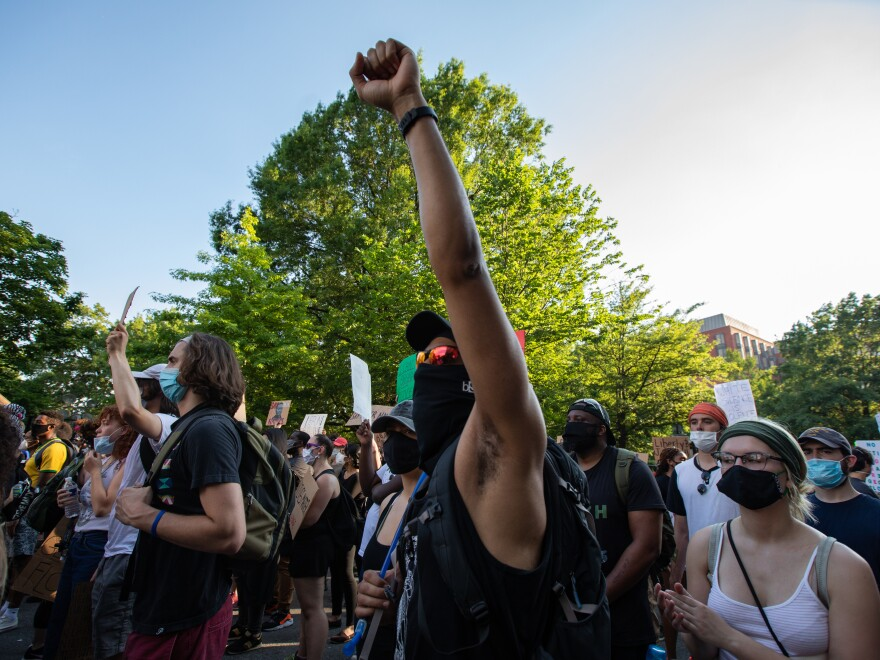 Demonstrators and police face off in Washington, D.C., on the sixth consecutive day of protests over the death of George Floyd.