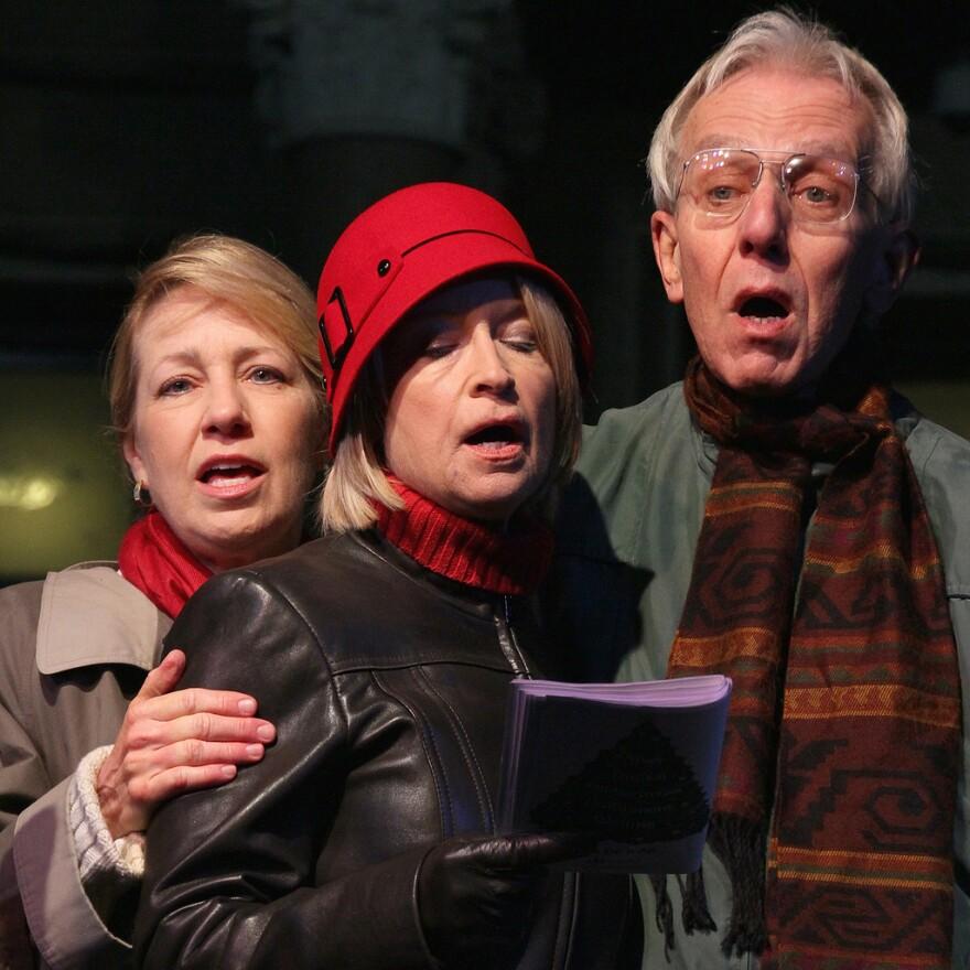 John Aielli singing carols in 2009