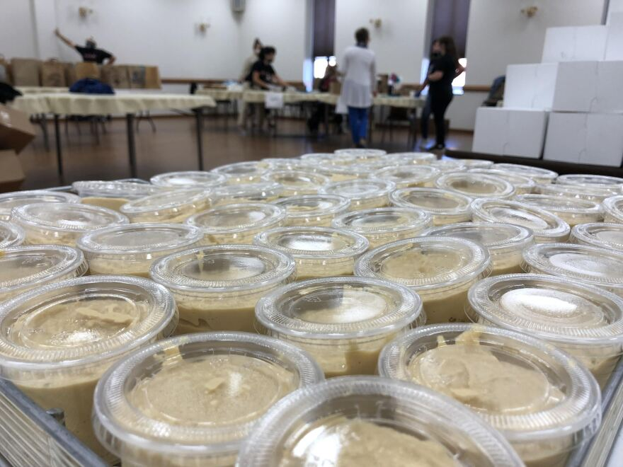 Hummus at the annual fundraiser at  Our Lady of Lebanon.