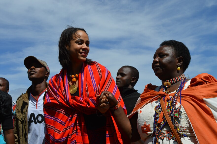 """British actress Zawe Ashton and Agnes Pareyio, who underwent female genital mutilation as a girl in Kenya, are two of the activists featured in <a href=""""http://www.bbc.co.uk/programmes/articles/46Cn3NTcR2R8ZPvYKNSKQKb/faces-from-the-anti-fgm-frontline"""">""""Stop Cutting Our Girls,""""</a> a documentary opposing the practice."""