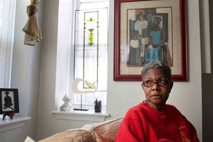 Virginia Lee in her home in Shaw. She moved to the neighborhood 17 years ago.