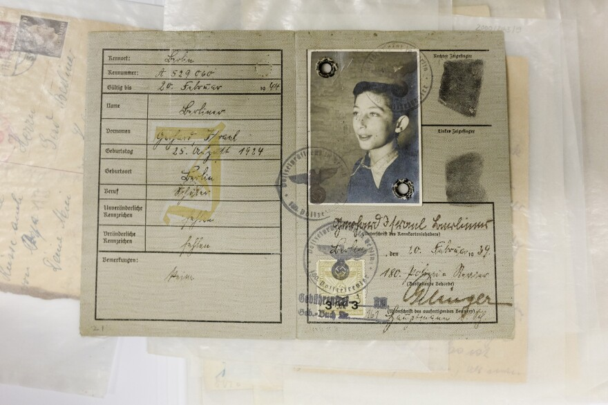 Gert Berliner's Jewish identity card was issued by the Third Reich in 1939. He escaped the Nazi death camps because his parents, Paul and Sophie Berliner, got him on a <em>Kindertransport, </em>a children's rescue train, to Sweden in 1939. His parents were sent to Auschwitz in 1943. They were murdered there.