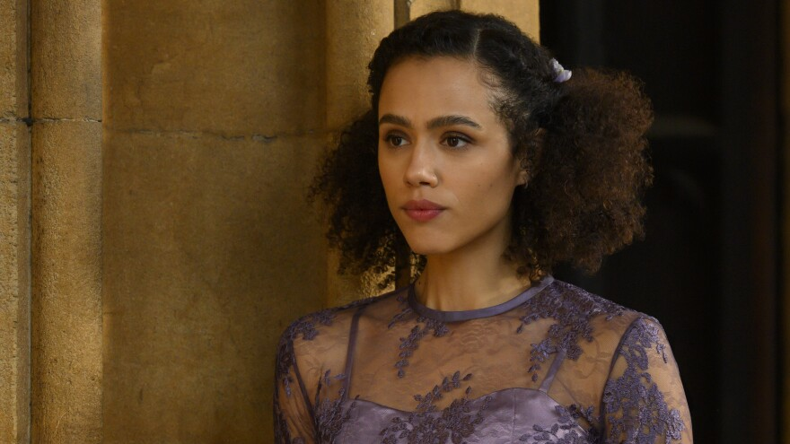 Nathalie Emmanuel is the best thing about the ultimately disappointing television adaptation of <em>Four Weddings and a Funeral</em>.
