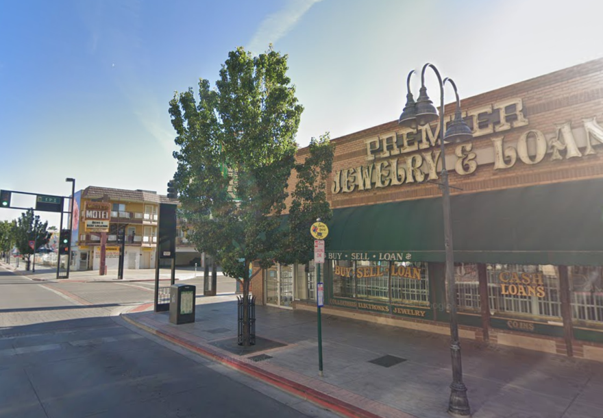 Pawnbrokers, like this one in Reno, Nev., are allowed to continue to operate in Nevada. Shops must still remain closed, but loans can still be provided.