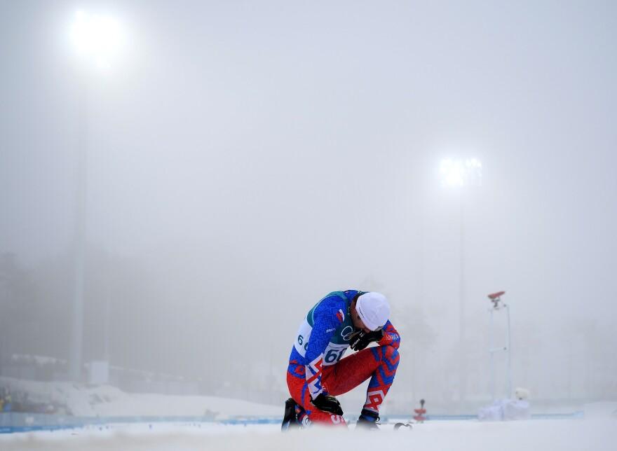 Cross-country skier Peter Mlynar of Slovakia took part in the men's 50-kilometer mass start race on Feb. 24. The race was won by Iivo Niskanen of Finland.
