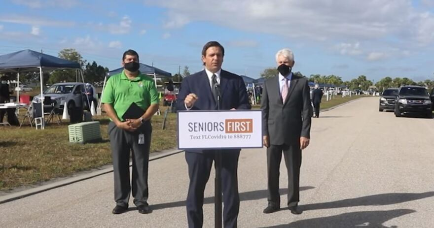 Gov. Ron DeSantis spoke out against a report that President Joe Biden's administration is considering new travel restrictions to areas, including Florida, that have seen a surge in cases involving variants of COVID-19.