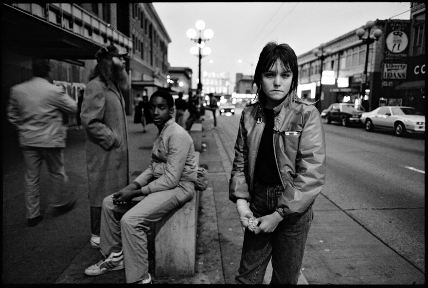 """Erin Blackwell, known as """"Tiny."""" Pike Street, Seattle, 1983."""