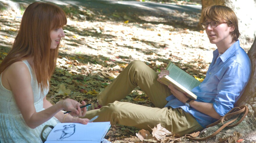 Ruby (Zoe Kazan) comes to life when Calvin (Paul Dano) begins writing her into existence on his typewriter in <em>Ruby Sparks</em>. Kazan also wrote the new romantic comedy from the directors of <em>Little Miss Sunshine.</em>