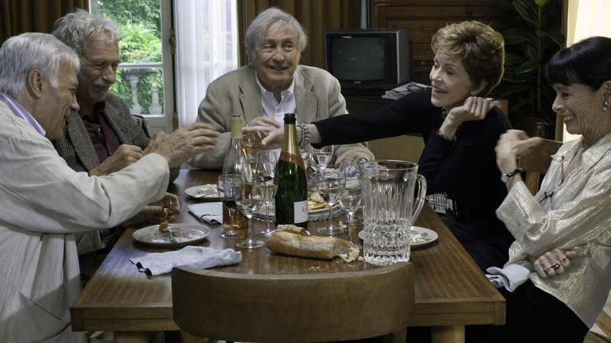 Five friends decide to move in together as an alternative to retirement-home living in the French-language dramedy <em>All Together</em>.