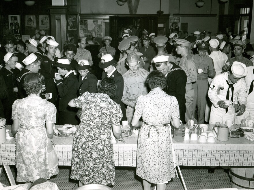 Service members of all ranks and branches of the military were welcome at the North Platte Canteen.