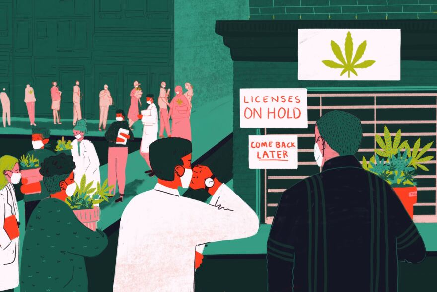 Illinois was supposed to award 75 dispensary licenses in May and another 40 craft grower, 40 infuser and an undefined number of transportation licenses in July. The delays put pressure on minority candidates who are trying to diversify an overwhelmingly white industry.