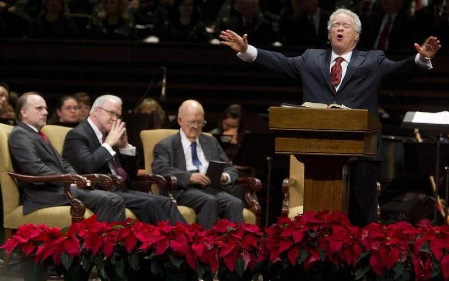 Paige Patterson, preaching, was removed as president of Southwestern Baptist Theological Seminary in Fort Worth on May 30, 2018.