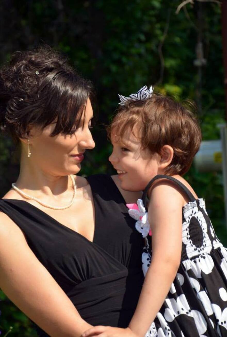 Juniper Russo with her daughter Vivian.