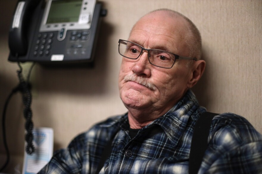 "Michael Kruchten, 62, a patient of Dr. Angela Gatzke-Plamann, takes prescription opioids for chronic pain. ""Dr. Gatzke has been a big plus and incentive for me ... She's one of the main factors why I'm still here. She pulled me through it,"" he says."