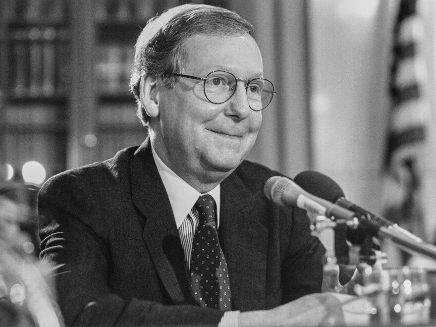 Sen. Mitch McConnell, R-Ky., pictured in May 1997.