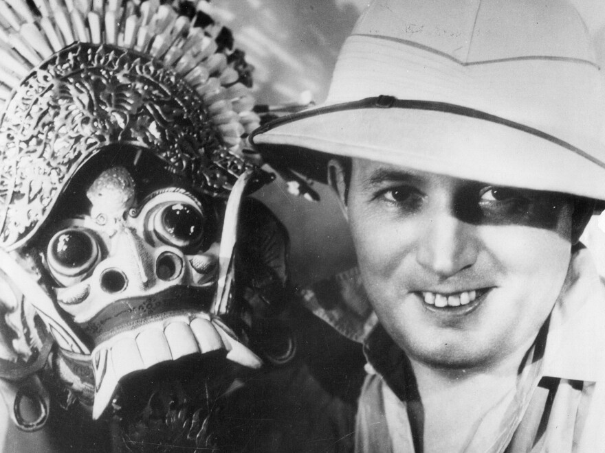 Robert Ripley traveled the world collecting souvenirs like this Balinese lion mask.
