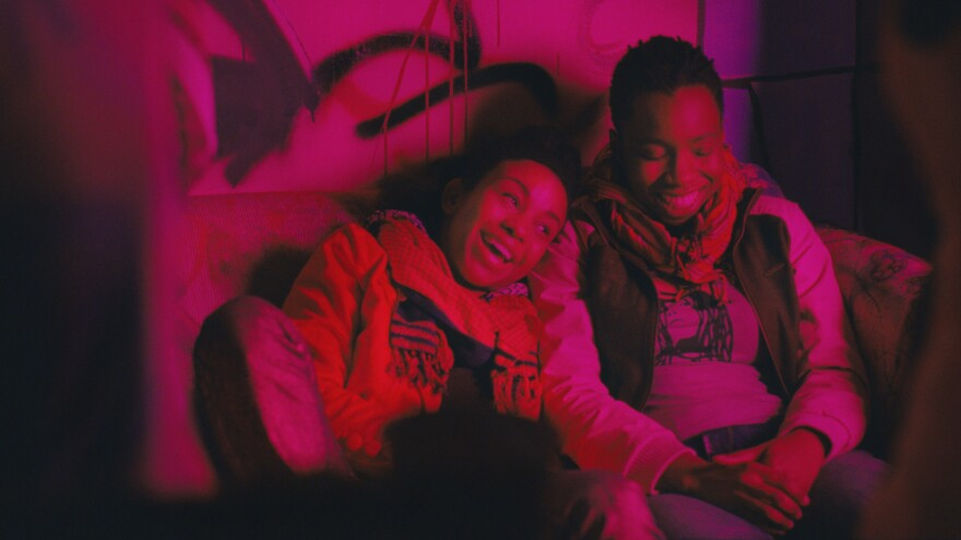 """Seventeen-year-old Alike (Adepero Oduye, right) finds a friend in Bina (Aasha Davis) in <em>Pariah</em>. Director Dee Rees says, """"Alike, the main character, knows she loves women — that's not her struggle. Her struggle's more how to be in the world."""""""
