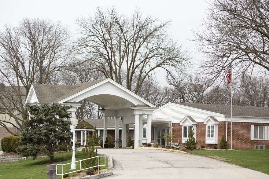 Frontier Health and Rehabilitation, a nursing home in St. Charles on March 27, 2020.