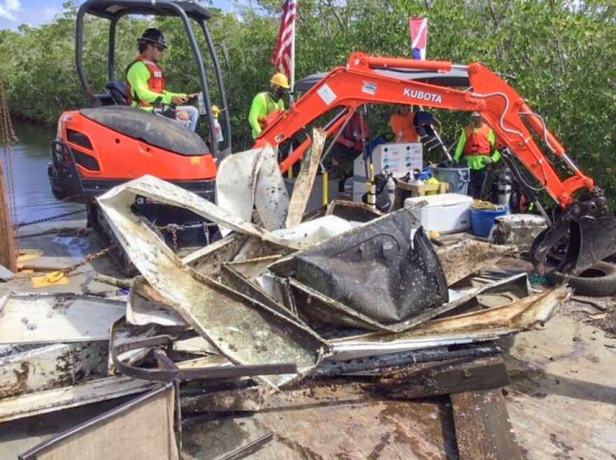 Debris removed from a Key Largo canal. Another 28 canals in the Keys were recently approved for cleanup.