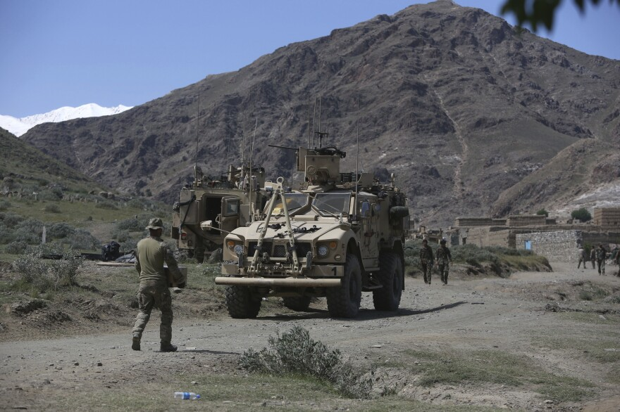 U.S. forces and Afghan commandos in April in Asad Khil village, east of Kabul, Afghanistan.