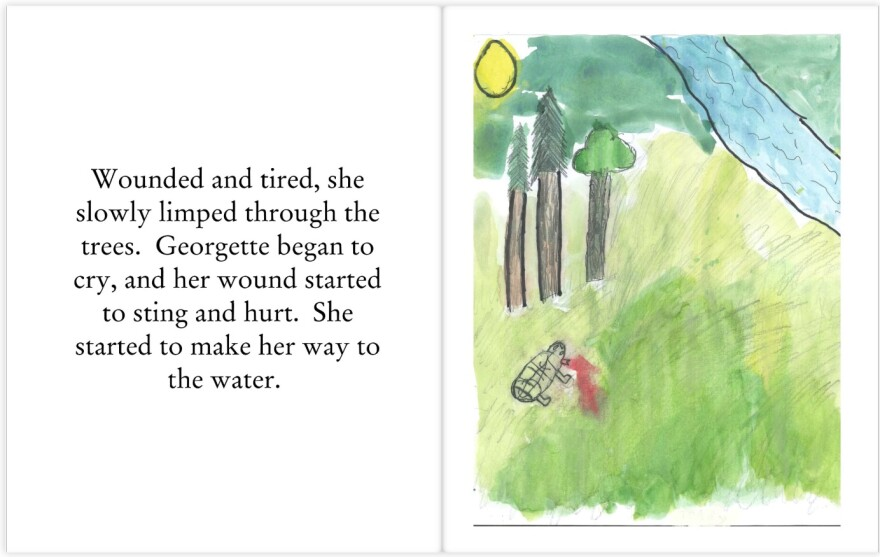 A group of third and fourth graders at the St. Michael School of Clayton wrote and illustrated a book about Georgette.