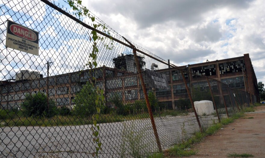 This photo of the former Carter Carburetor plant was taken in Aug. 2011, prior to the start of the cleanup.