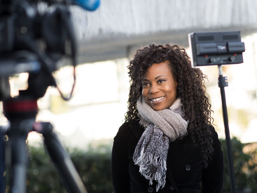 Hannah Beachler, pictured here in February 2018, is the first African-American  nominated for an Oscar for production design.
