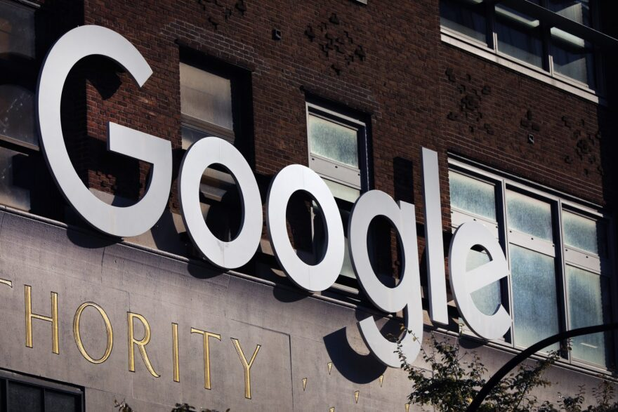 Google's offices stand in downtown Manhattan on October 20, 2020. The Justice Department and 11 states filed an antitrust case against Google that accusing the company of using anticompetitive tactics to illegally monopolize the online search and search advertising markets,