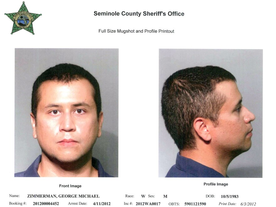 A handout composite provided by the Seminole County Sheriff's Office, showing George Zimmerman in new mugshot photos.
