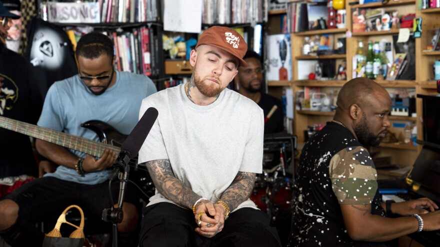 Mac Miller performs a Tiny Desk Concert on Aug. 1, 2018.