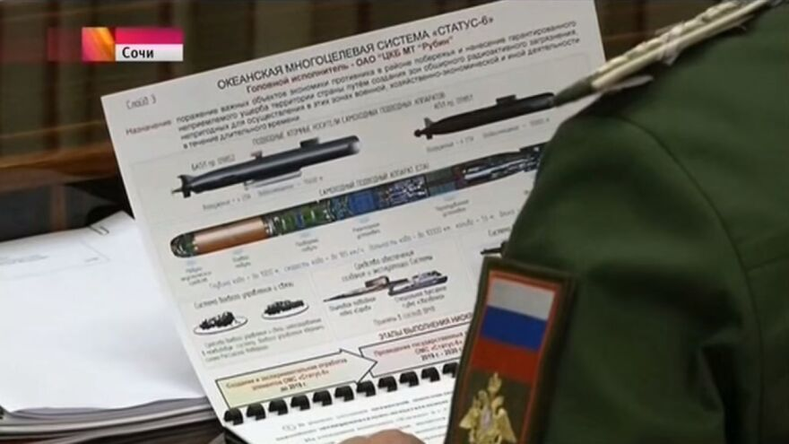 Status-6 made its first public appearance in 2015, on a television broadcast of Russian President Vladimir Putin meeting with his generals in the city of Sochi.