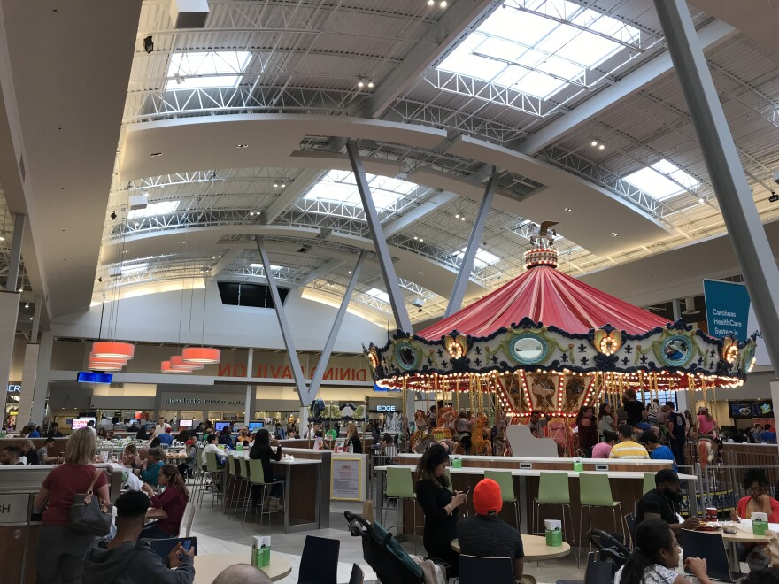 The food court at the Concord Mills mall.