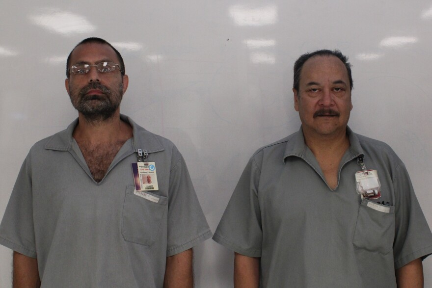 Stuart Grebing, 51, and David Rivera, 58 worked on the dictionary with other prisoners.